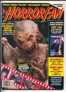 Horror Fan #1 1988-1st issue-John Carpenter-Donald Pleasance-Halloween 4-VF/NM