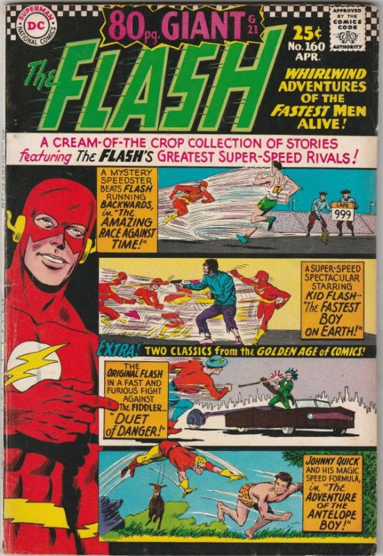 Flash, The #160 (Apr-66) FN/VF Mid-High-Grade Flash