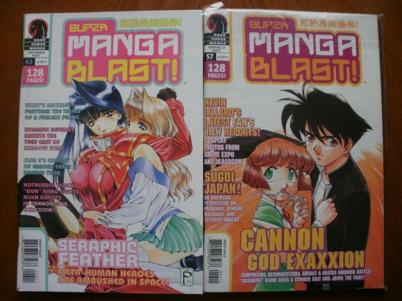 2 Near-Mint Dark Horse MANGA Comic Magazine: SUPER MANGA BLAST #43 #57 Feather
