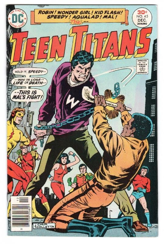 TEEN TITANS #45-1976-DC-1st BUMBLEBEE-Kid Flash-Wonder Girl-Robin-comic book