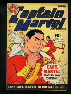 CAPTAIN MARVEL ADV #31-CAPTAIN FIGHTS OWN CONSCIENCE VG/FN