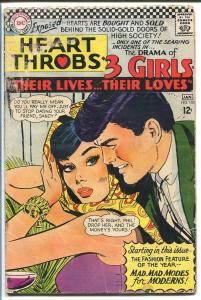 HEART THROBS #105 1967 DC-TORRID ROMANCE-COOL G/VG