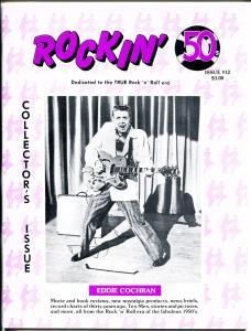 Rockin' 50's #12 1988 -Wm Griggs-Eddie Cochran-early rock-Peggy Sue-history-VF