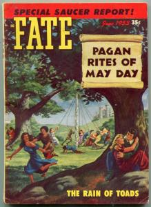 Fate Pulp June 1953- Flying Saucer- Pagan Rites of May Day