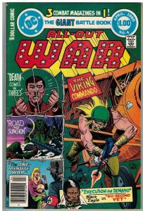 ALL OUT WAR (1979) 4 VG+ ($1 CVR) April 1980