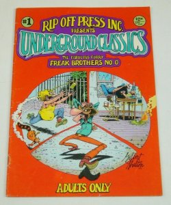 Underground Classics #1 VG freak brothers 0 by gilbert shelton - rip off press