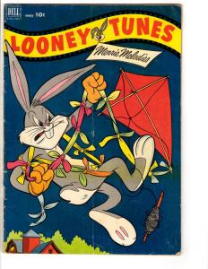 Looney Tunes # 127 FN Dell Golden Age Comic Book Bugs Bunny Daffy 1952 JL14