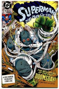 SUPERMAN THE MAN OF STEEL #18-FIRST DOOMSDAY-DC-HTF-3rd PRINTING.