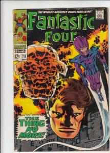 Fantastic Four #78 (Sep-68) VG/FN Mid-Grade Fantastic Four, Mr. Fantastic (Re...