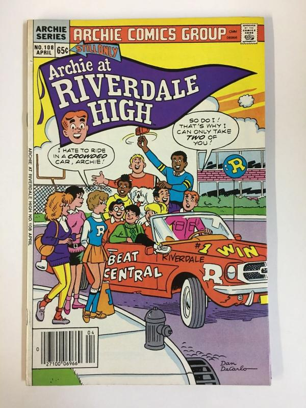 ARCHIE AT RIVERDALE HIGH (1972-1987)108 VF-NM  Apr 1986 COMICS BOOK