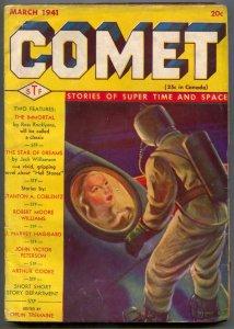 Comet Pulp #3 March 1941- The Immortal- Star of Dreams VG-