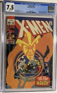X-Men #58 (1969) CGC Graded 7.5  First appearance of Havok in costume
