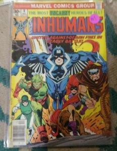 inhumans  # 8  1976 Marvel   black bolt medusa gorgon tritan karnac