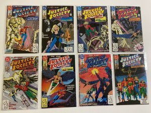 Justice Society of America set #1-8 DC 1st Series 8 pieces average 8.0 VF (1991)