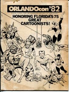 OrlandoCon 1982-Florida's 75 Greatest cartoonists-Thor-Flash-Spider-man-G
