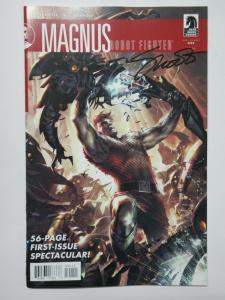 Magnus Robot Fighter (Dark Horse 2010) #1 Signed by Jim Shooter!