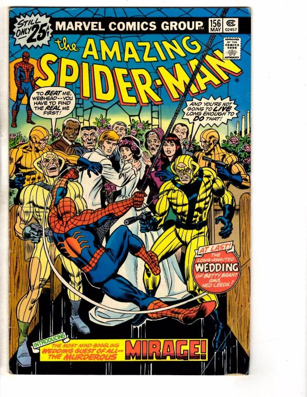 Amazing Spider-Man # 156 FN Marvel Comic Book Goblin Vulture Mary Jane NP4