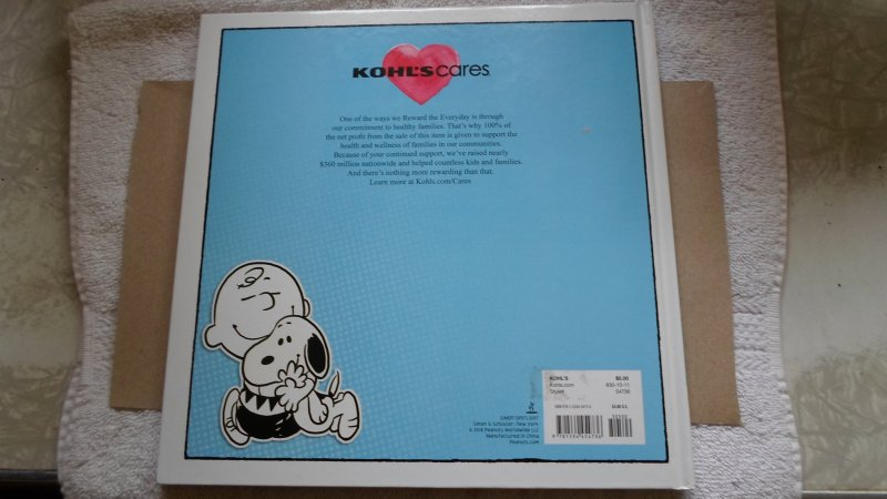 2018 PEANUTS BE KIND, BE GRAVE,BE YOU HARD BACK BOOK