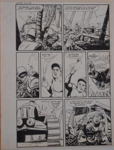 JACK SPARLING original art, WARFRONT #9 pg 24,14x 19,1952,WWII, Japanese, Island