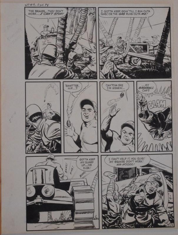 JACK SPARLING original art, WARFRONT #9 pg 24,14x 19,1952,WWII, Japanese, Island