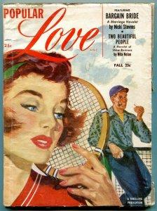Popular Love Pulp Fall 1954- Tennis cover- Nicki Stevens VG