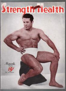 Strength and Health 3/1945-WWII era-male & female body builders-FN