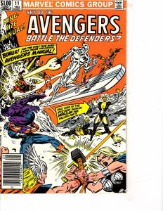 Lot Of 2 Comic Books Marvel Avenges Battle Defenders #11 andAll New DifferentMS9