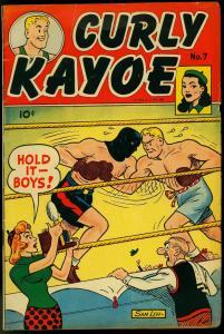CURLY KAYOE #7 -BOXING COVER-SAM LEFF COVER-- JOE JINKS VG/FN