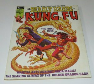 The Deadly Hands of Kung Fu #18 VG/FN High Martial Arts Magazine Ninja Magic
