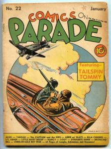 Comics On Parade #22 1940- TAILSPIN TOMMY- Tarzan G+