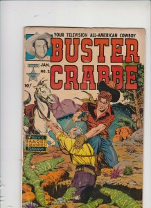 BUSTER CRABBE #2 1952 FAMOUS FUNNIES / POOR