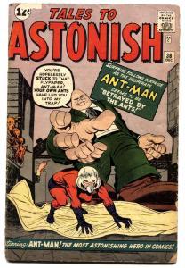 TALES TO ASTONISH #38 1962-MARVEL-ANT-MAN-1ST EGGHEAD-JACK KIRBY-G+