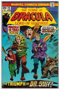 TOMB OF DRACULA 40 FN Jan. 1976 COMICS BOOK