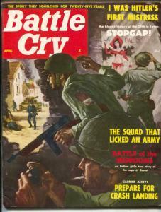 Battle Cry Magazine April 1958- HITLER'S MISTRESS- Rangers FN