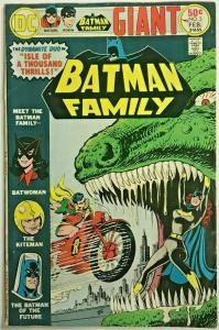 BATMAN FAMILY#3  FN/VF 1975 DC BRONZE AGE COMICS