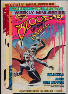 Warp Graphics BLOOD of the INNOCENT #1,2,3,4 Complete Set (1986) ~ VF+ (PF197)
