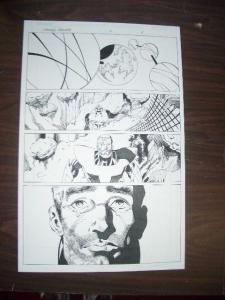 COMMON GROUNDS #2 PG 8 ORIGINAL COMIC ART-DAN JURGENS- FN