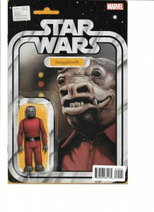 Star Wars #15 SNAGGLETOOTH ACTION FIGURE VARIANT signed John Tyler Christopher