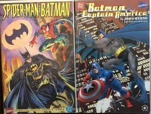 BATMAN DC SPIDER-MAN,CAPTAIN AMERICA  BY JOHN BYRNE MARVEL TEAM UPS VF/NM TPB