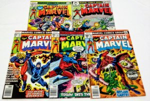 Captain Marvel #49 #53 #55 #57 #62 lot of (5) see more Bronze Age Marvel ID#002