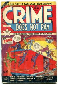 Crime Does Not Pay #82 1949- Golden Age- Hobo Jungle- Houseboat Mob G