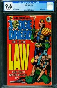 JUDGE DREDD #1 CGC 9.6 1983-Brian Bolland cover 2038907008