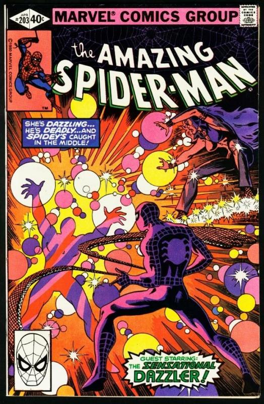 AMAZING SPIDER-MAN #203-1980-DAZZLER-MARVEL-very fine VF