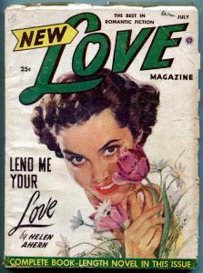 New Love Pulp July 1951- Helen Ahern- Viola Cornett VG-