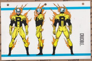 Official Handbook of the Marvel Universe Sheet- Crucible