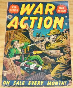 War Action #3 VG june 1952 - korean war - golden age atlas comics