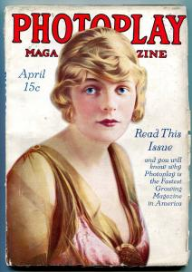 Photoplay Pulp Magazine April 1915- Blanche Sweet- early film industry VG