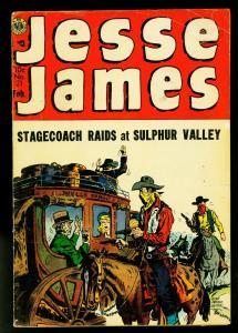 Jesse James #21 1954- Avon Western- Kinstler- Kubert- VG