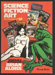 Science Fiction Art The Fantasies of SF 1975-pulp magazine cover & interior a...