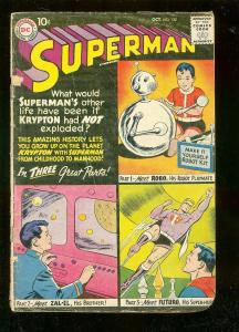 SUPERMAN #132 1959-DC COMICS-LIFE ON KRYPTON-ROBOT COVR FR